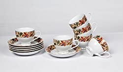 Lakline Porcelain Cups & Saucers Set 12 Pcs - HL80154