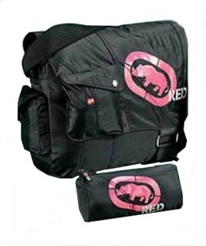 Ecko Red messenger school laptop college bag and pencil case,black pink