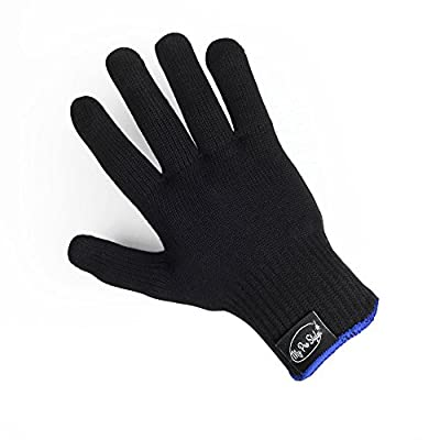 Generic Professional Heat Resistant Glove for Hair Styling Heat Blocking for Curling, Flat Iron and Curling Wand 1pcs(Black)