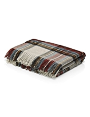 Winter Berry Checked Throw