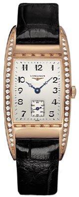 Longines BelleArti 18k Rose Gold Diamonds Womens Strap Watch L25019733