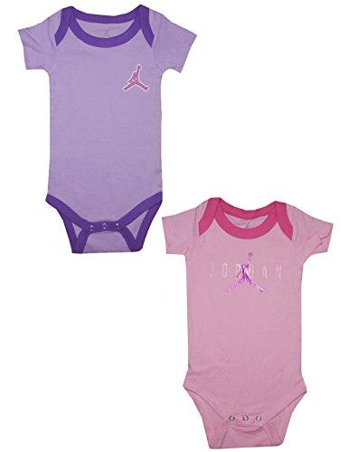 (Pack Of 2) Air Jordan By Michael Jordan Baby Girls One-Piece Romper 3-6M Multicolor front-326336