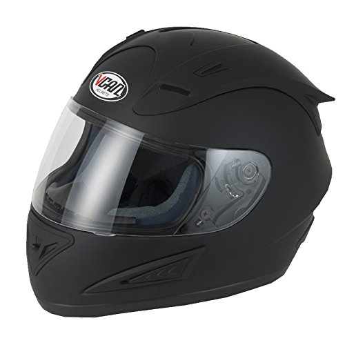 V-CAN V100 MATT BLACK HELMET Motorcycle Motorbike Full Face Crash Helmet SHARP 4**** (S)