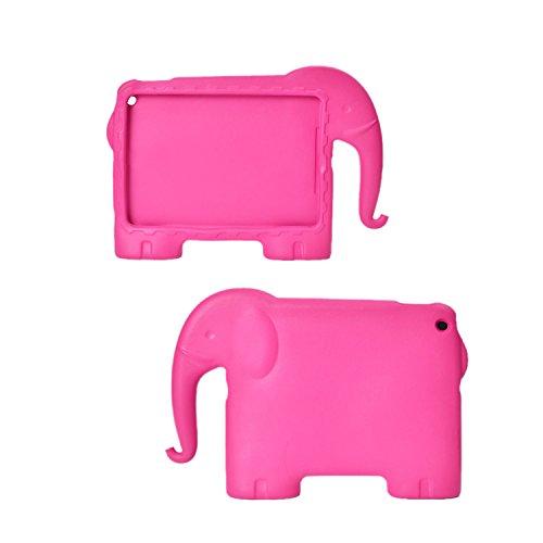 ESYN Safe Kids Spesso Schiuma Shock Proof copertura della maniglia di EVA per iPad 2 3 4 / Air 1 (iPad 2 3 4, Rose Elephant)