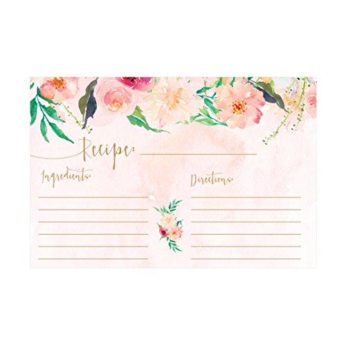 Recipe Cards, (Set of 50) 4x6 Recipe Cards, Blank Recipe Cards, Recipe Cards for Bridal Shower, Thick Recipe Card, Recipe Note Cards (Recipe Cards 100 compare prices)
