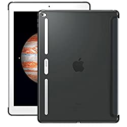 iPad Pro Case, ESR iPad Pro Shell Case [Perfect Match with Smart Keyboard] [[Soft TPU Bumper] [Corner Protection] Back Cover for iPad Pro 12.9 Inches (2015 Release)_Charcoal Gray