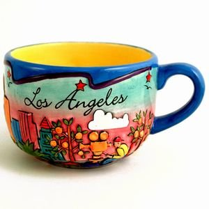 Los Angeles Hand Painted Coffee Mug