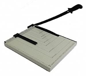 """Paper Cutter Guillotine Style 18"""" Cut Length X 15"""" Inch Metal Base Trimmer"""