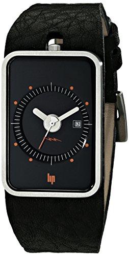 Lip Unisex 1870932 Fridge Analog Display Swiss Quartz Black Watch
