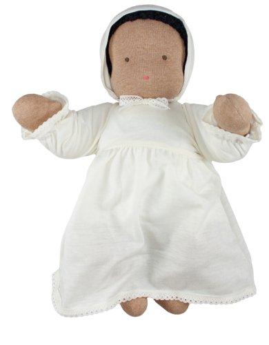 "Waldorf Baby Doll, 15"", Black Hair, Light Brown Skin"