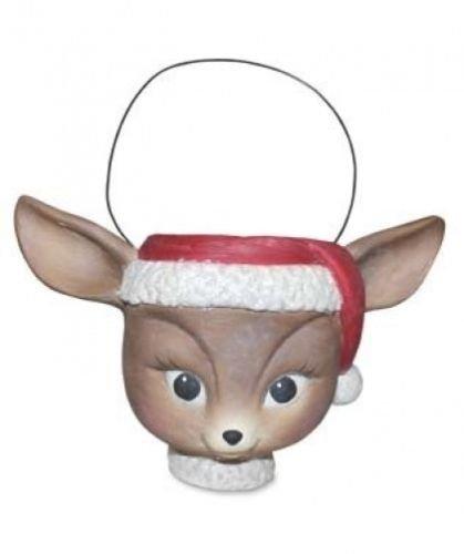 Bethany Lowe Christmas Retro Reindeer Bucket TJ1480
