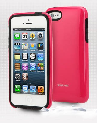 Apple Iphone 5 Case, 5S Uv Coated Hard Case, Including Protective Screen, Slim Fit Battery Cover (Hot Pink) front-428319
