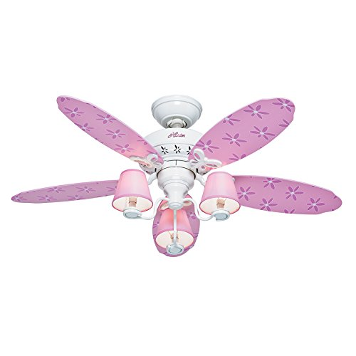 Hunter dreamland 44 in white and pink kids downrod or flush mount hunter dreamland 44 in white and pink kids downrod or flush mount ceiling fan with aloadofball Gallery