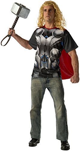 Rubie's Costume Co Men's Avengers 2 Age Of Ultron Adult Thor T-Shirt and Cape