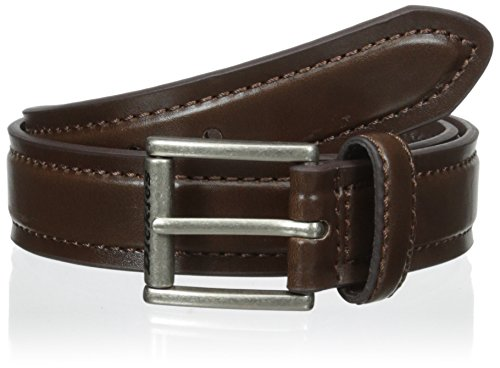 Dickies Big Boys' Casual Belt with Stitching, Brown, Medium