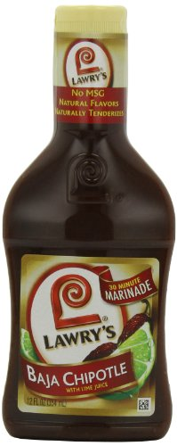 Lawry's Baja Chipotle Marinade with Natural Flavors, 12 oz. (Pack of 6)