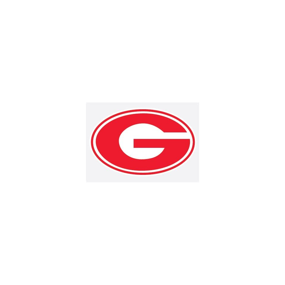 GEORGIA BULLDOGS G LOGO RED vinyl decal 5 UGA car truck sticker