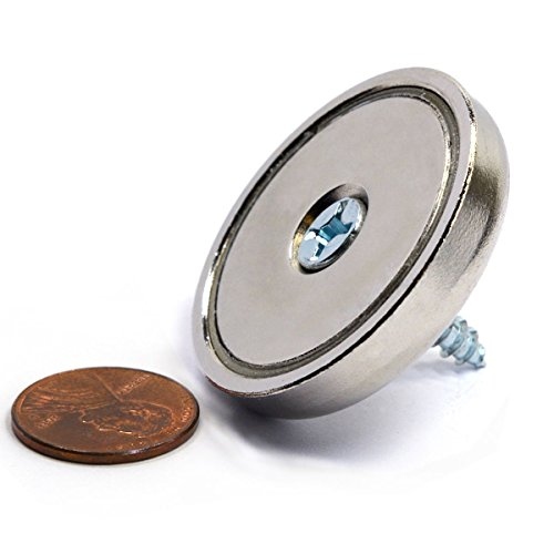 """CMS Magnetics® 112 LBS Holding Power 1.57"""" Neodymium Round Base Magnet w/ Countersunk Hole - 1 Ct."""