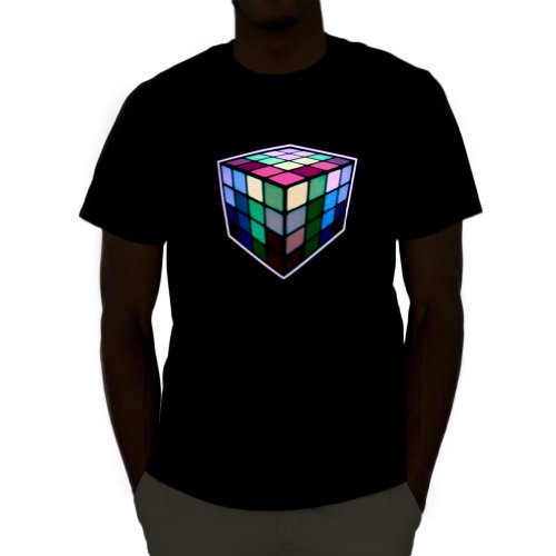 Rubik'S Cube Led Shirt (X-Large)