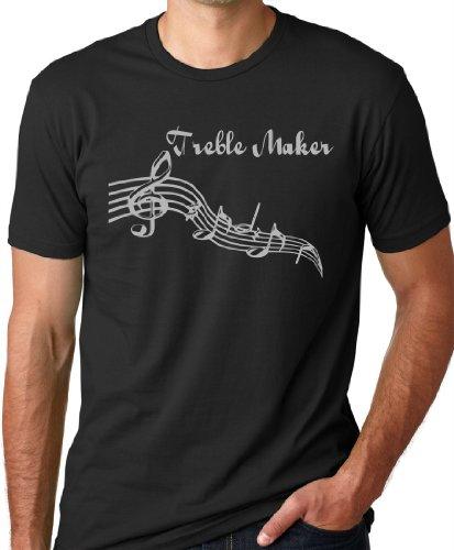 Treble Maker Funny Musician T-Shirt Black XL (Treble Maker compare prices)