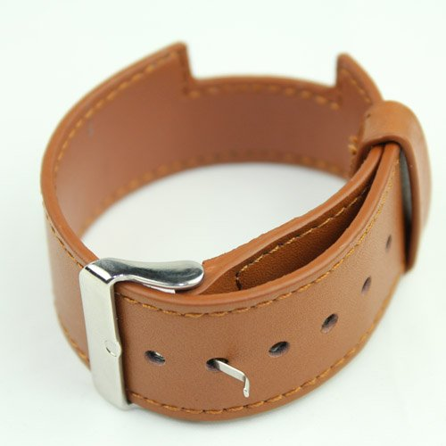 Brown PU WatchBand Watch Band Wrist Strap Wristband for iPod Nano 6th 6 Gen
