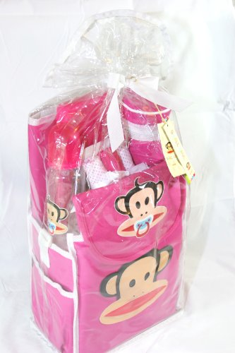 Small Paul Frank Infant Baby 9 Pieces Gift Set. (Pink)