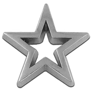 Silver Star 3-D Cut-Out Lapel Pin