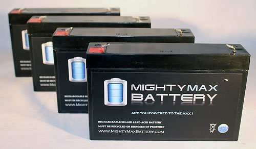 Agm Sealed 6V 7Ah Battery Replaces 7.2Ah Cf6V7 Pe6V7.2F1 Sla0925 Ca160 - 4 Pack