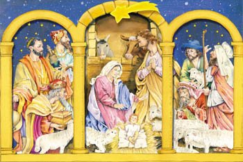 Vermont Christmas Company Nativity Triptych Advent Calendar