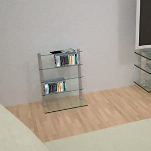 cd regal glas accordo cd 5 silber seidenmatt k che haushalt. Black Bedroom Furniture Sets. Home Design Ideas
