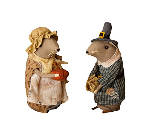 Your Hearts Delight Pilgrim Couple Mouse Decor, 7-1/2-Inch
