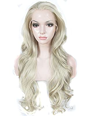Imstyle Good Quality Heat Resistant Wavy Drag Queens Synthetic Lace Front Wig