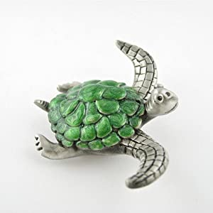 Pewter sea turtle gifts home decor home Turtle decorations for home