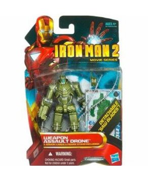 Disney Weapon Assault Drone Iron Man 2 Action Figure -- 4'' - 1
