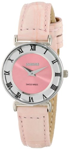 Jowissa Roma Pastell Women's Quartz Watch with Pink Dial Analogue Display and Pink Leather Strap J2.016.S