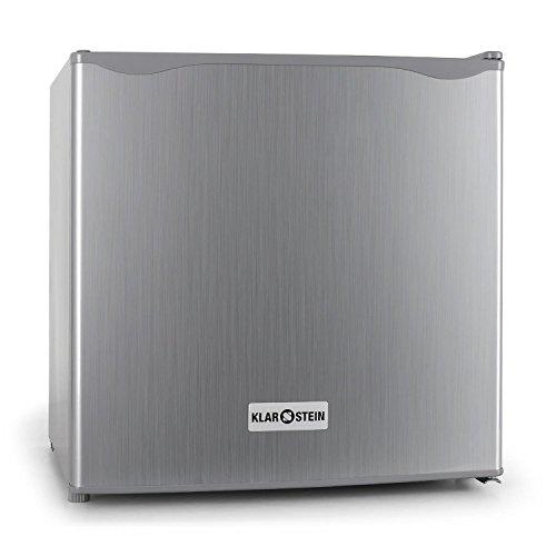 Klarstein Frigorifero Frigo bar Classe A+ con scomparto ghiaccio freezer (capacitá 40 litri, vari scomparti, silenzioso) argento