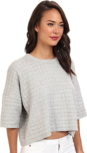 French Connection Women's Mini Milla Sweater, Light Grey Melange, Medium
