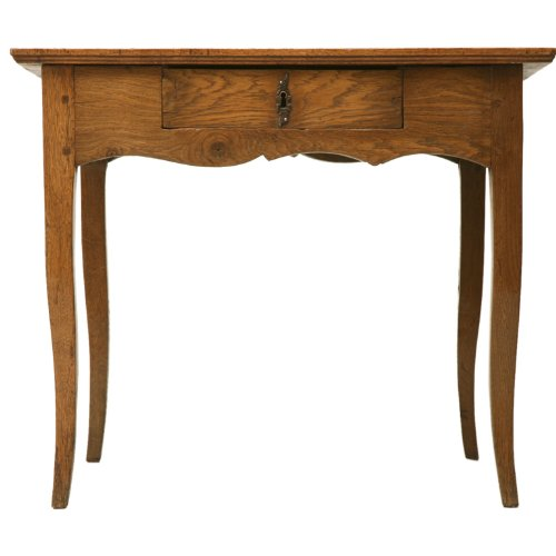 Antique White Vanity Table front-951818