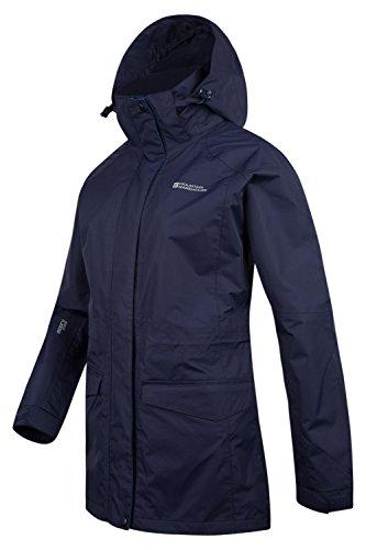 Mountain Warehouse Glacier Extreme Lange wasserdichte Damenjacke mantel allwetter Marineblau DE 46 (EU 48) -