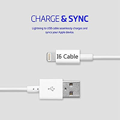 Lightning Cable,I6 Cable(TM) 10Ft/3m Extra Long Lightning To USB Cable iPhone 5 Cable iPhone 6 Cable 8-Pin Lightning Cable for iPhone 6 6Plus 6s 6sPlus 5 5s iPad Air iPad mini iPad 5 from I6 Cable