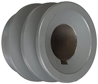 "TB Woods 2AK221 FHP Bored-To-Size, 2.25"" Outside Body Diameter, 1"" Bore Diameter V-Belt Sheave"
