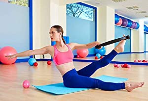 RitFit Pilates Ring - Magic Fitness Circle for Toning Inner & Outer Thighs, Carry Bag & Bonus eBook Included (Pink) (Color: PINK)