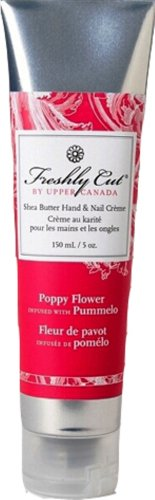 Upper Canada Soap And Candle Freshly Cut Shea Butter Hand And Nail Cream In Poppy Flower Infused With Pummelo, 5-Ounce Tubes (Pack of 2)