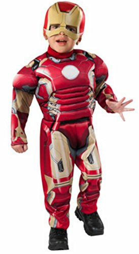 Marvel Avengers Age of Ultron IRON MAN MUSCLE Costume Toddler Size 3T-4T