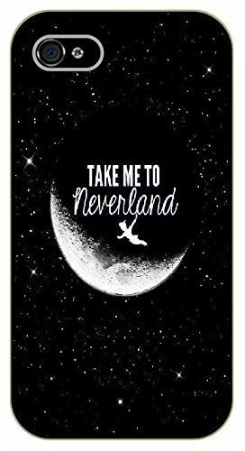 iPhone 6 Take me to neverland - black plastic case / Inspirational and motivational, Peter, Pan by SHURELOCK TM (Peter Pan Iphone Case compare prices)
