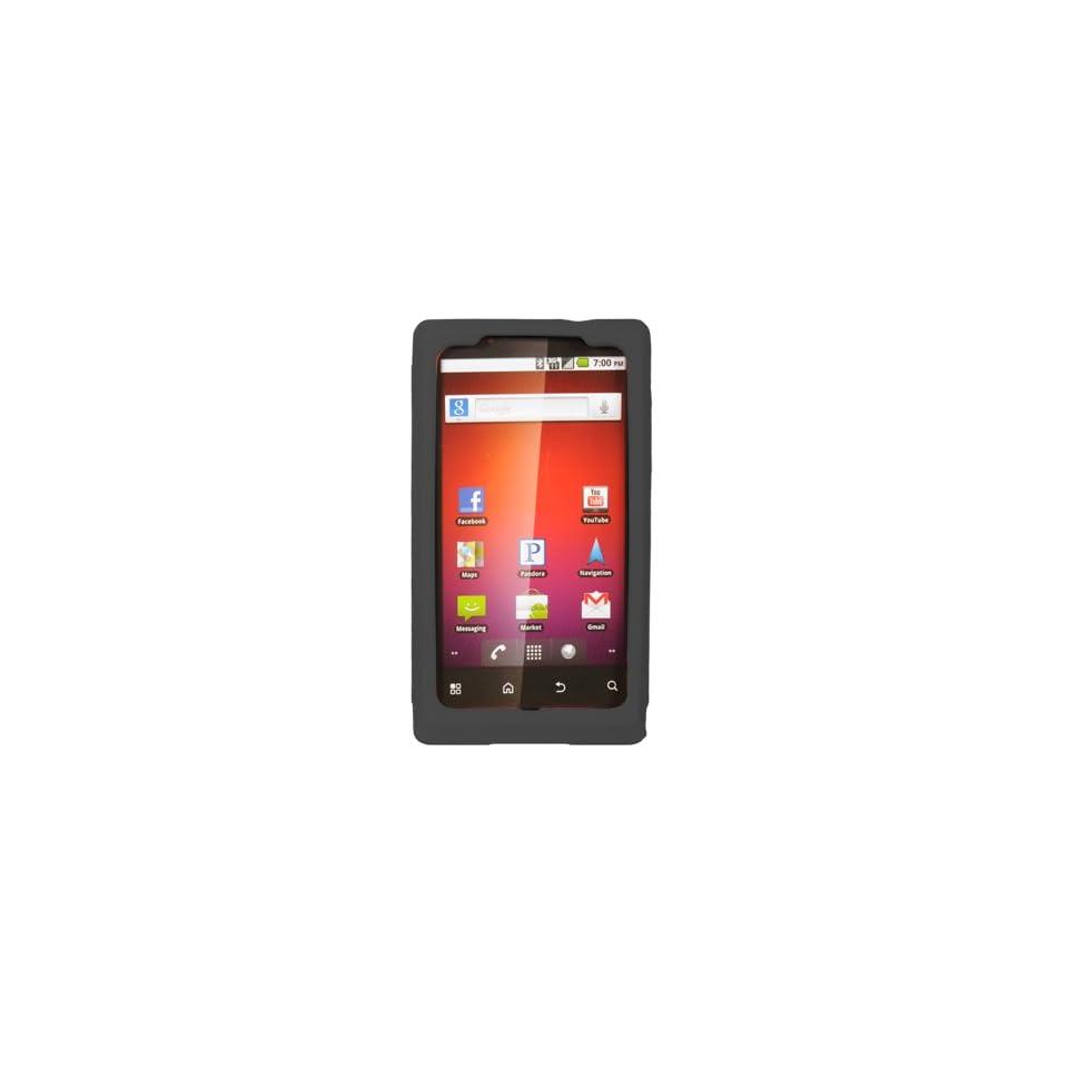 BW Soft Sleeve Gel Cover Skin Case for Virgin Mobile Motorola Triumph  Black