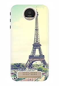 Noise Designer Printed Case / Cover for Motorola Moto Z Play / Patterns & Ethnic / Paris Design