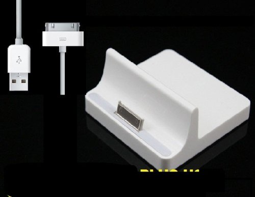 Desktop Dock Docking Station Charger for ipad ipad 2 / 3 & 1M USB Cable For Apple iPad iPad 2 PLUS Free music splitter adapter