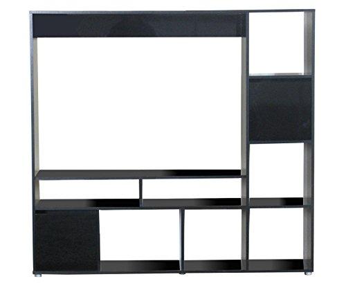 TV-Hifi-Schrank-Casie-Mbel-Regal-Wohnwand-Fernseher-Wandschrank-Schrank-schwarz