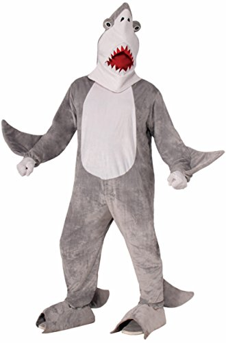 Forum Novelties Men's Chomper The Shark Plush Mascot Costume, Gray, One Size (Mascot Costume Shark compare prices)
